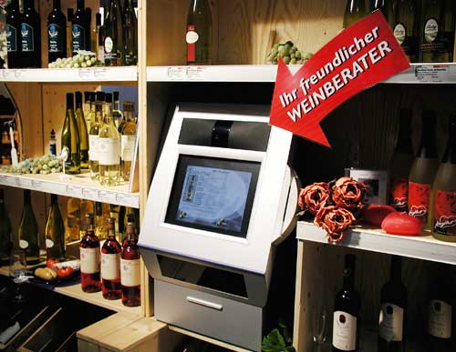 Interaktive Weinberatung am Point of Sale